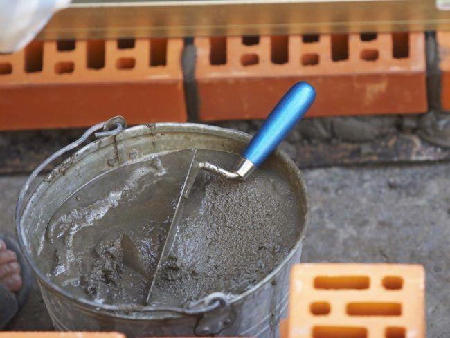 Внешний вид цементно-шамотного раствора
