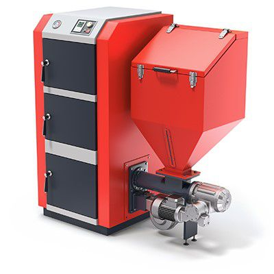 Котел с системой автоматизированной подачи топлива