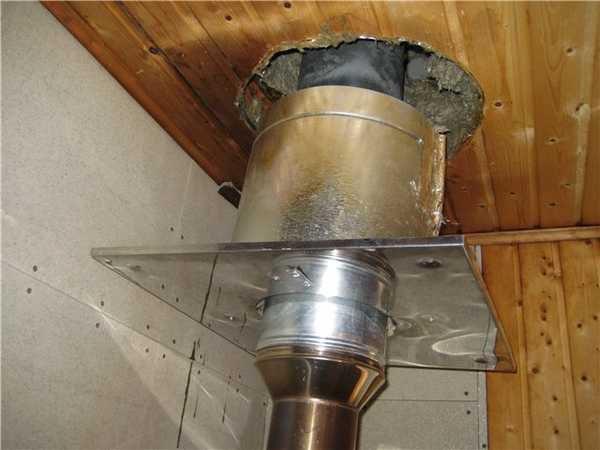 Изоляция трубы и вывод ее через стену