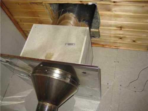 Труба с защитным коробом