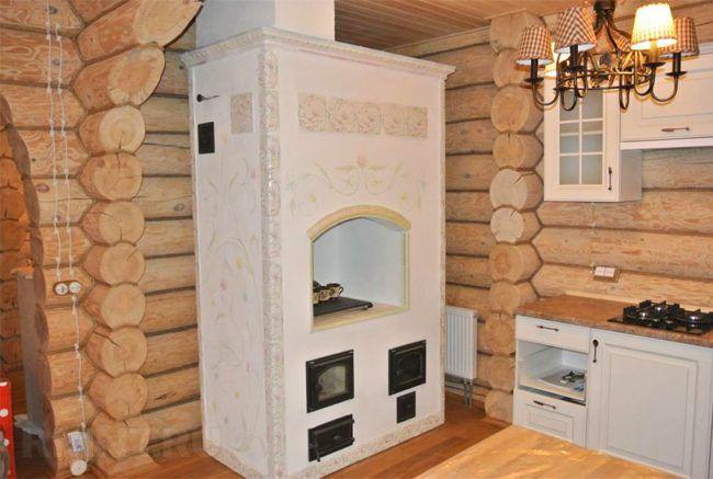 Печь-шведка в загородном доме