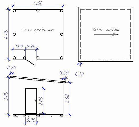 Схема дровницы