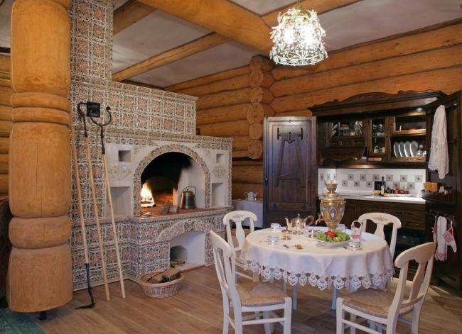 Шведка между кухней и гостиной