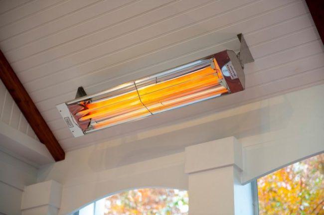 Лампы выступают нагревательным элементом