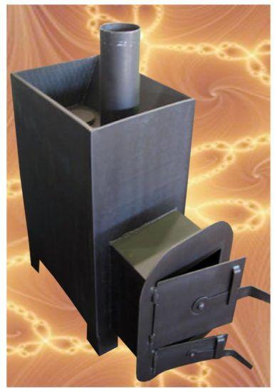 Заводская металлическая печь