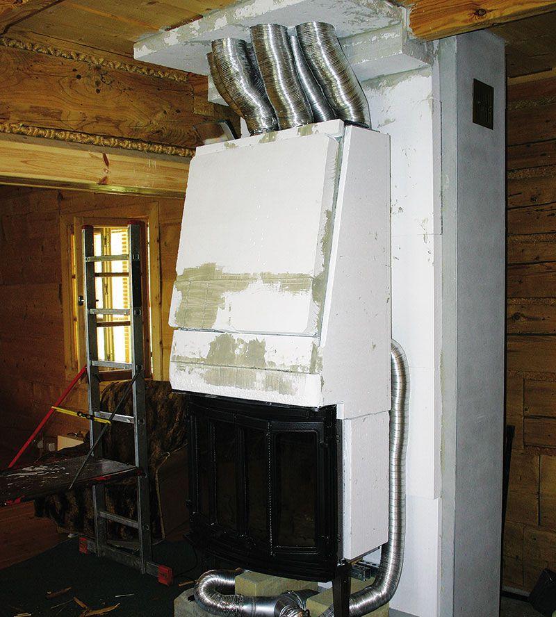 Камин в доме с воздушным отоплением