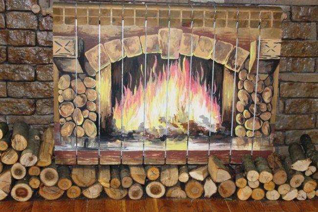 Вариант декора радиатора отопления
