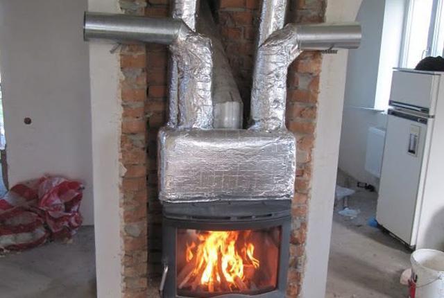 Воздушное отопление от печи на дровах