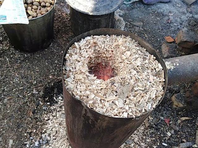 печь на опилках
