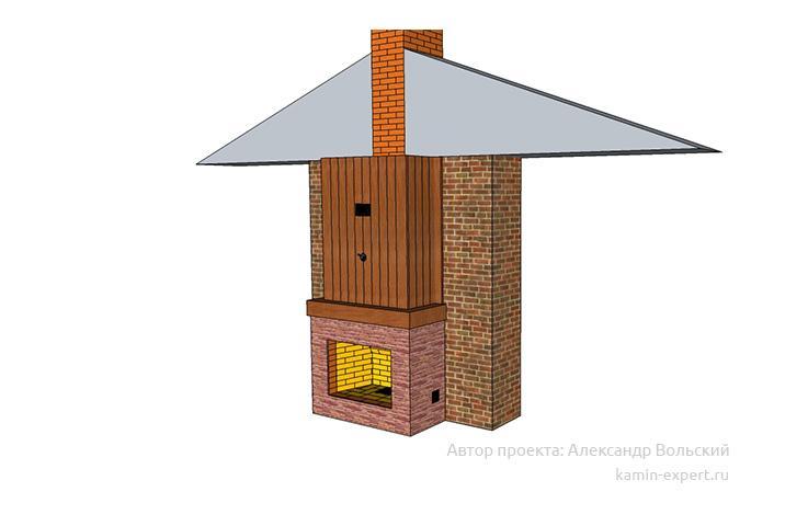 Проект камин мангала 1042 вид 6