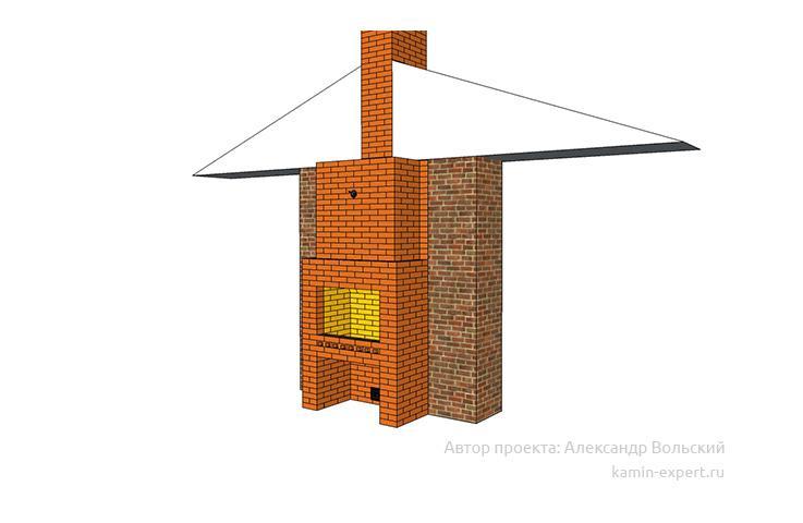 Проект камин мангала 1042 вид 3