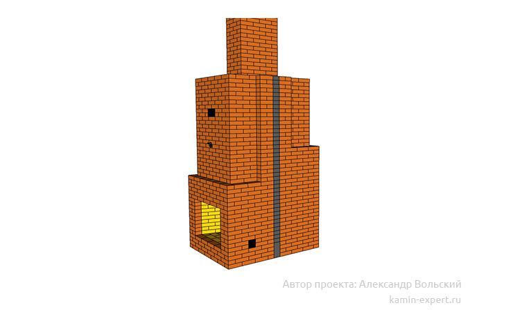Проект камин мангала 1042 вид 1