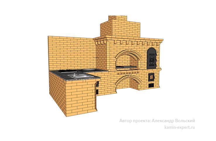 Проект комплекса барбекю № 1024 вид 3