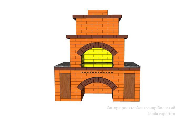 Проект комплекса барбекю № 1048 вид 1