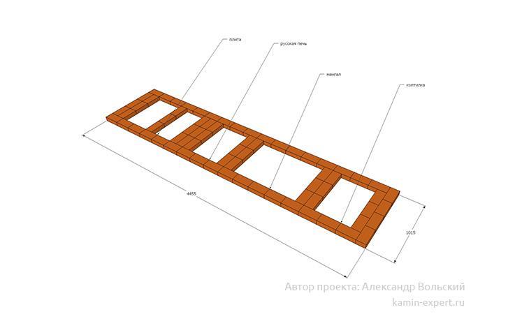 Проект комплекса барбекю № 127 вид 4