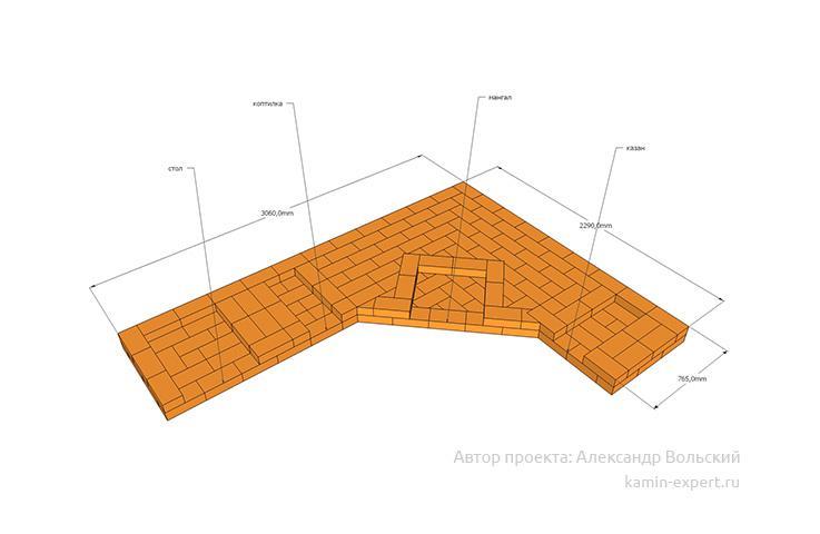 Проект комплекса барбекю № 169 вид 5
