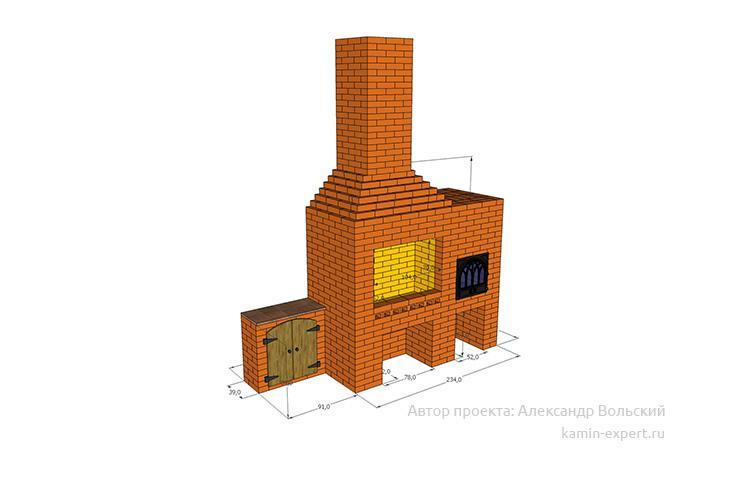 Проект комплекса барбекю № 30 вид 2