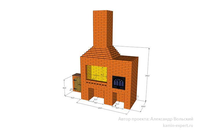 Проект комплекса барбекю № 30 вид 3