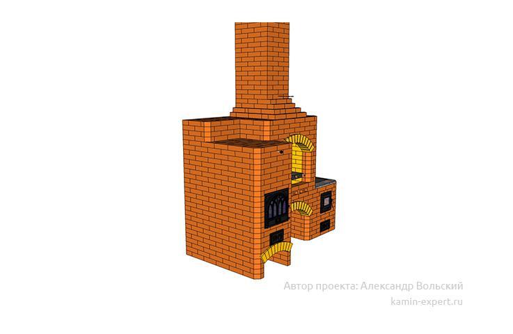 Проект комплекса барбекю № 399 вид 3