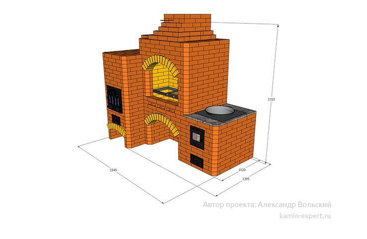 Проект комплекса барбекю № 399 вид 4