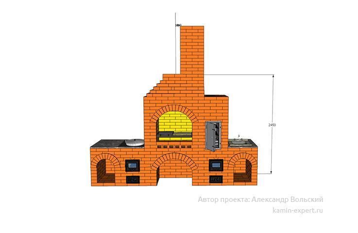Проект комплекса барбекю № 409 вид 2