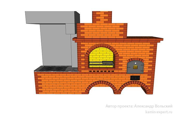 Проект комплекса барбекю № 414 вид 2