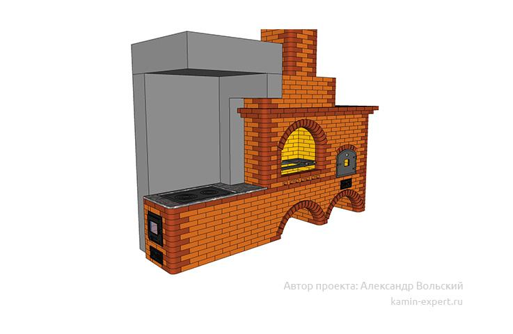 Проект комплекса барбекю № 414 вид 3