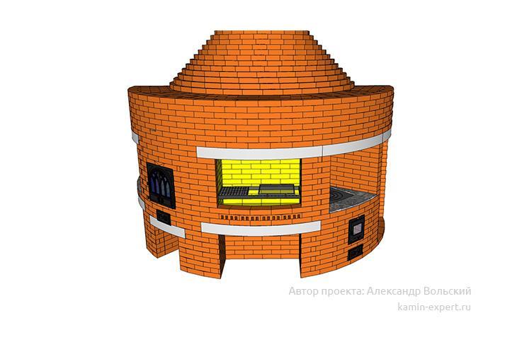 Проект комплекса барбекю № 417 вид 10