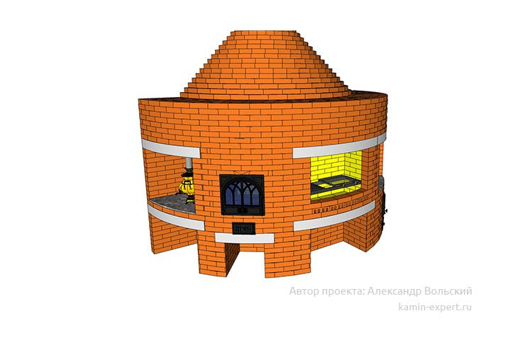 Проект комплекса барбекю № 417 вид 11