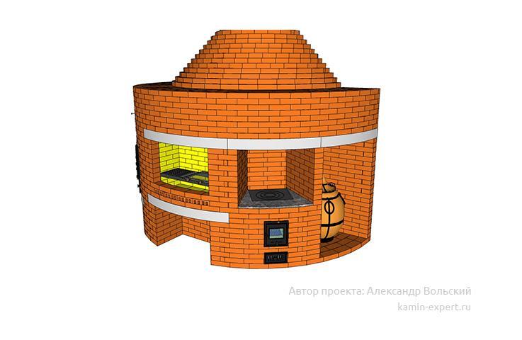 Проект комплекса барбекю № 417 вид 9
