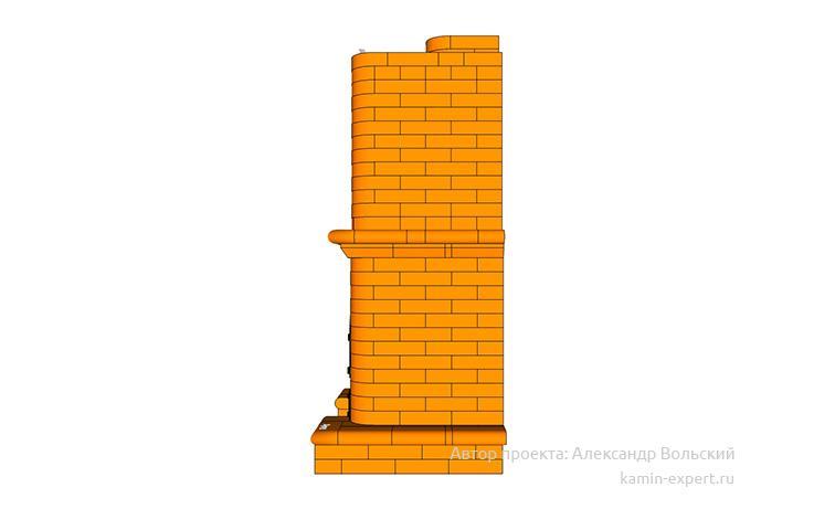 Проект печи-камина № 42 вид 5
