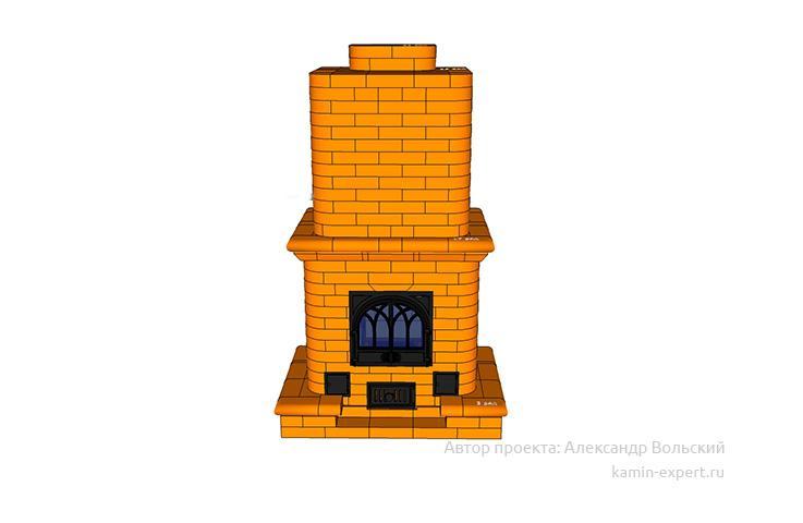 Проект печи-камина № 42 вид 6