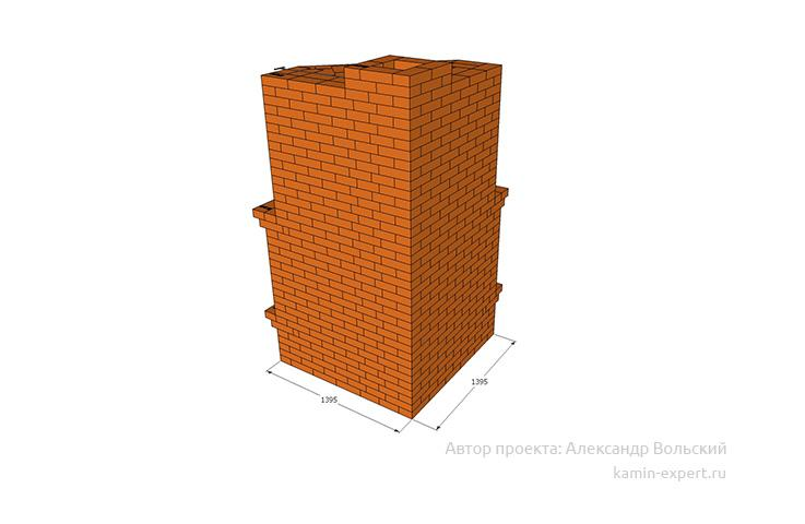 Проект угловой печи № 440 вид 2