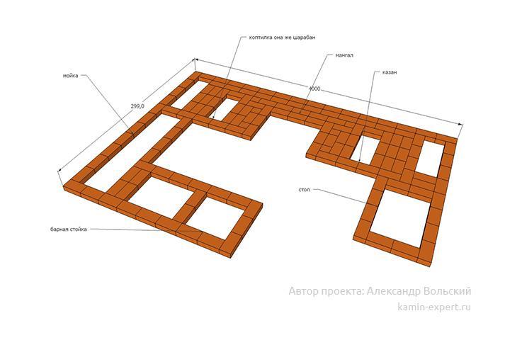 Проект комплекса барбекю № 450 вид 4