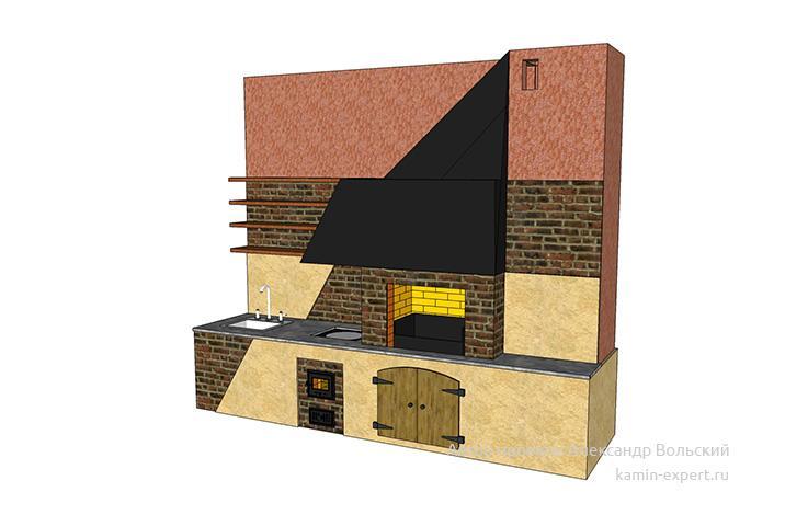 Проект комплекса барбекю № 56 вид 2