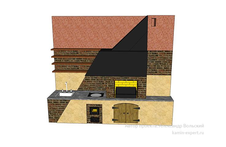 Проект комплекса барбекю № 56 вид 3