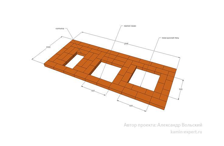 Проект комплекса барбекю № 625 вид 3