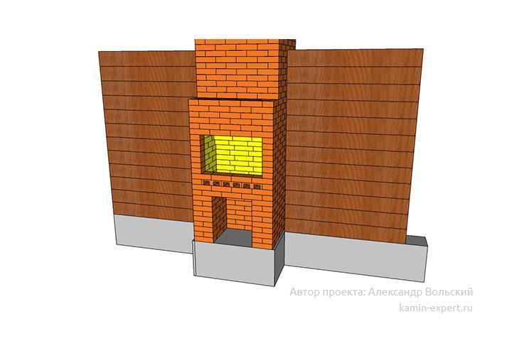 Проект камина-мангала № 62 вид 3