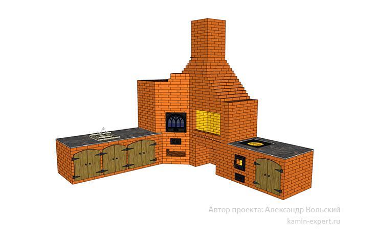 Проект комплекса барбекю № 662 вид 4