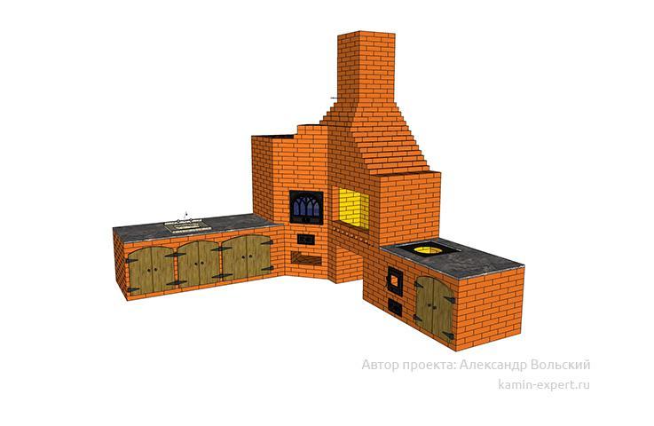 Проект комплекса барбекю № 662 вид 5