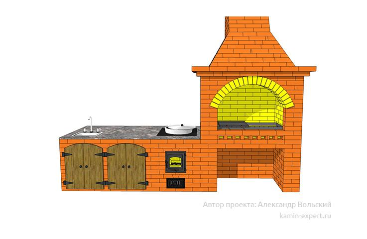 Проект комплекса барбекю № 688 вид 2