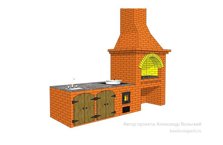Проект комплекса барбекю № 688 вид 3