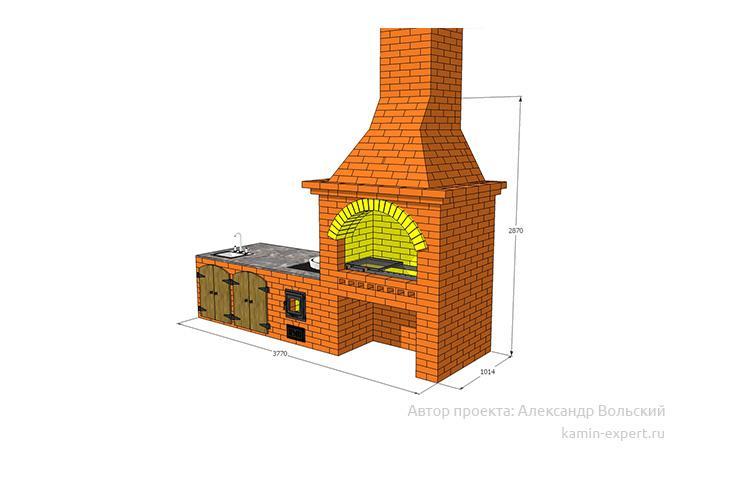 Проект комплекса барбекю № 688 вид 4