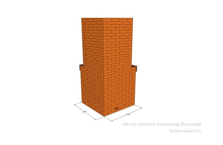 Проект углового камина № 6 вид 4