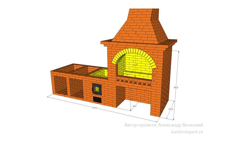 Проект комплекса барбекю № 78 вид 3