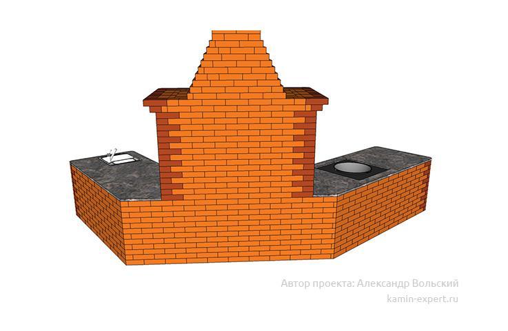 Проект комплекса барбекю № 825 вид 4