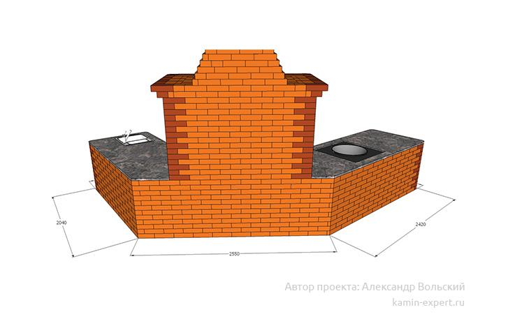 Проект комплекса барбекю № 825 вид 5