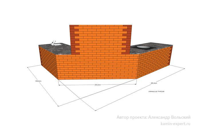 Проект комплекса барбекю № 825 вид 6