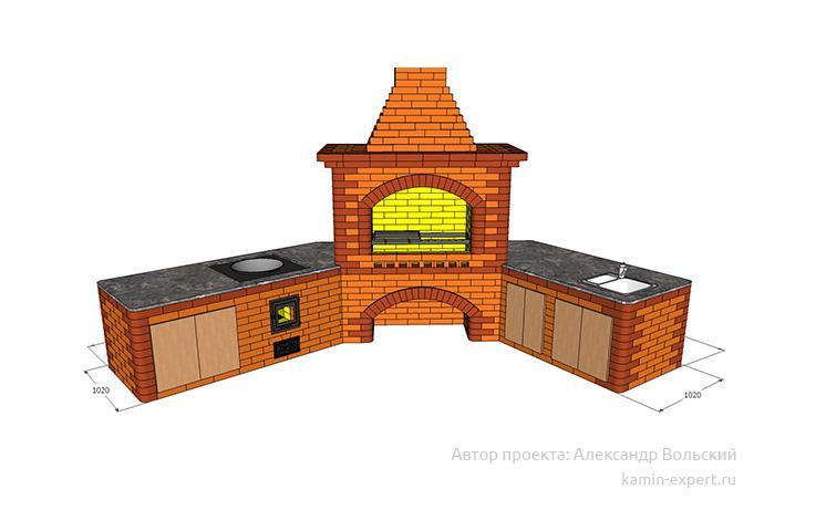 Проект комплекса барбекю № 825 вид 7