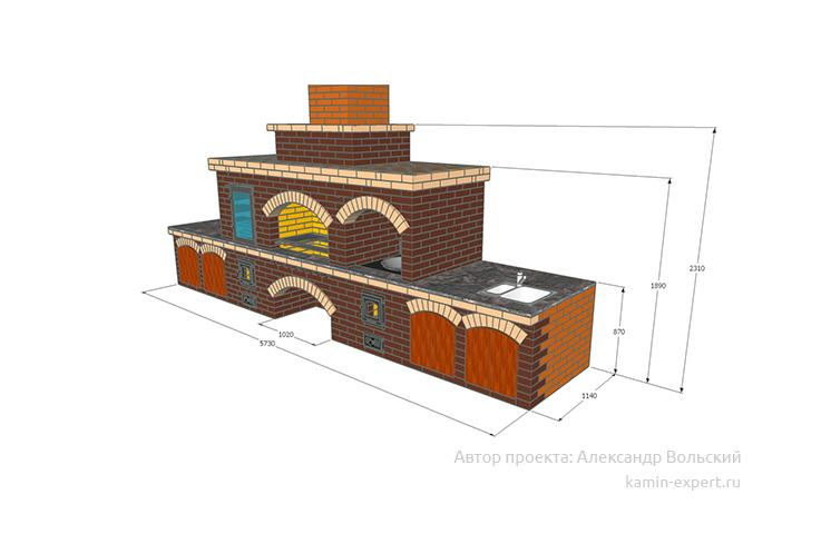 Проект комплекса барбекю № 827 вид 4